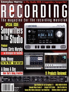 Ronan & RBC featured in Recording Magazine